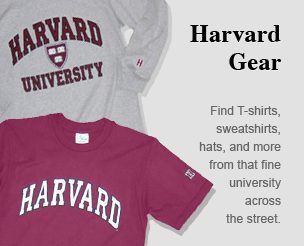 Harvard Gear: Find T-shirts, sweatshirts, hats, and more from that fine university across the street.