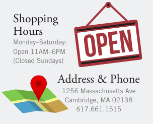 Hours & Directions: Monday through Saturday, 11AM to 6PM