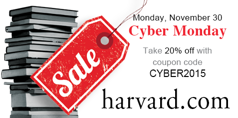 Monday, Nov 30: Cyber Monday. Take 20% off with coupon code CYBER2015