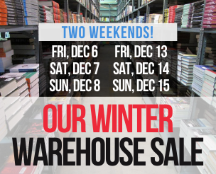 TWO WEEKENDS! Our Winter Warehouse Sale