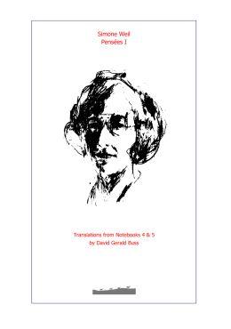 Simone Weil Pensees I