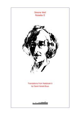 Simone Weil Pensees II