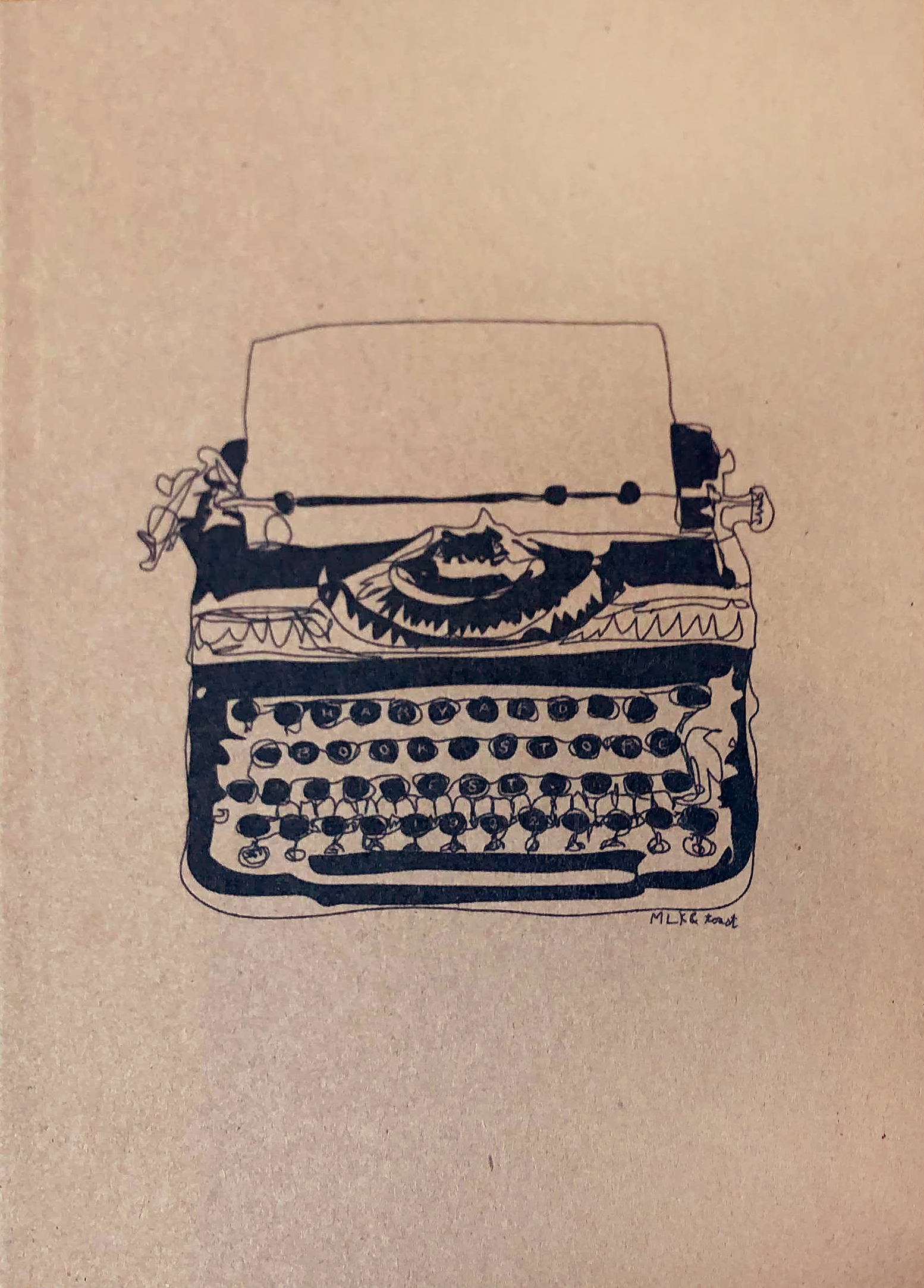 Harvard Book Store Typewriter Journal: Lined Pages