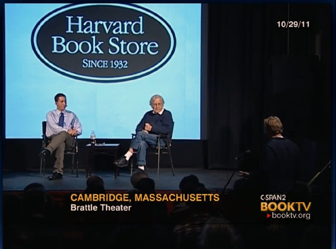 Glenn Greenwald and Noam Chomsky on C-SPAN's BookTV