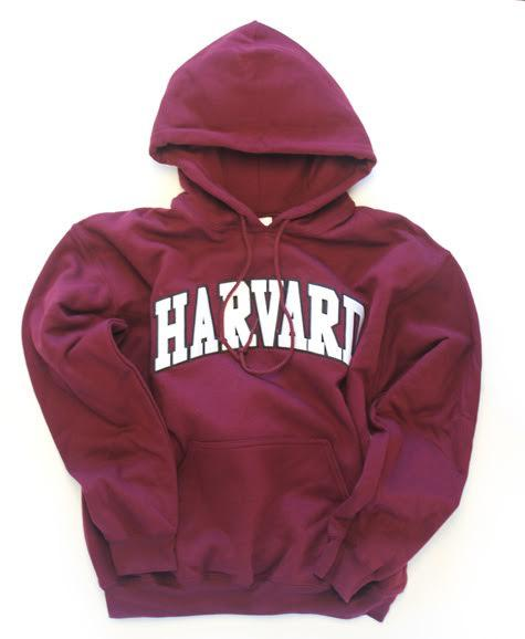 Harvard Sweatshirt (Hooded, Arch Logo, Tackle Twill)