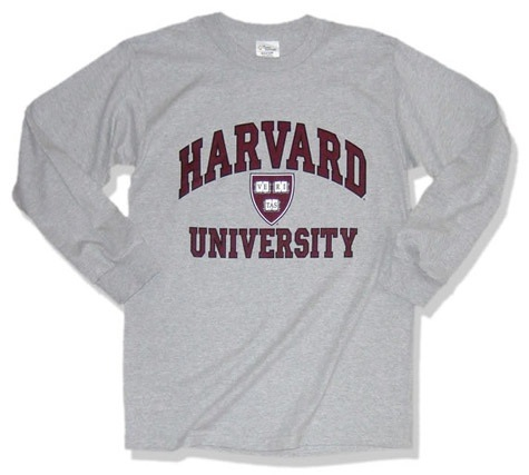Harvard Long-Sleeve T-Shirt (Shield)