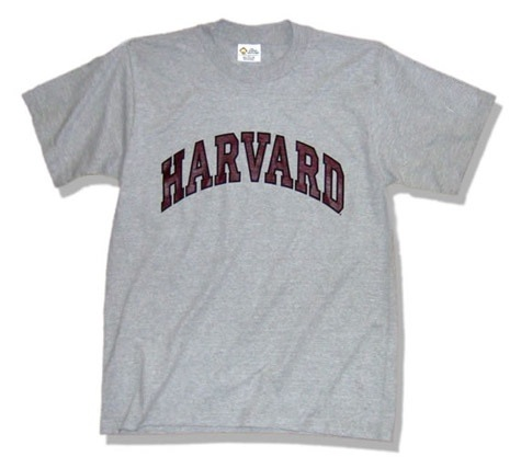 harvard t-shirt grey color with arch logo
