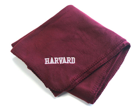Harvard Fleece Blanket
